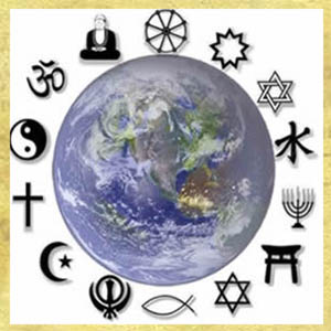 Symbols for the main Religions Of The World