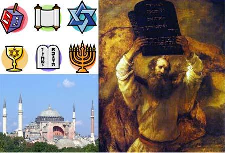 Jewish religion symbols and Abraham, the father of Judaism
